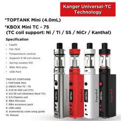 Оптовая торговля Kangertech Kanger Topbox мини-Vs Subox Mini E Vape