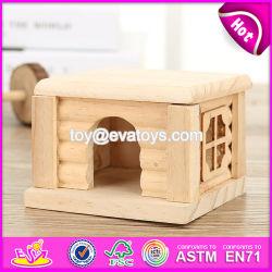 Nuevos productos en el interior de la naturaleza Mini Sala de la actividad de Mascotas Mascotas Juguetes de madera casa W06F026.