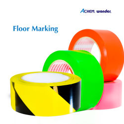 Belüftung-Fußboden-Markierung, industrielles Kennzeichen, Farbkennzeichnungs-Band