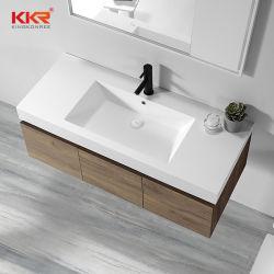 목욕탕 가구 물동이 단단한 지상 수채 세면기 및 내각 세척 손 물동이