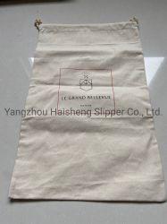 Coulisse de coton à bon marché de nettoyage à sec pour les hôtels de sac à linge