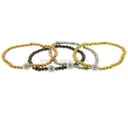 La imitación de joyería, bisutería, joyería de calidad, el cordón elástico pulsera, pulsera, pulsera chapada en oro (TXB-20260)