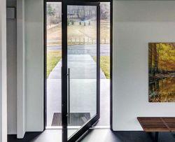 L'extérieur de l'aluminium porte en verre de pivot de sol printemps Piovtting porte d'entrée d'entrée de porte