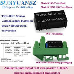 إشارة الفولطية إلى محول الوحدة الكهربائي لحلقة المحول الكهربائي للتيار 4-20 مللي أمبير