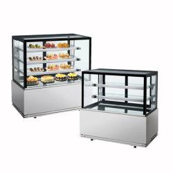 Banco espositore per panetteria refrigerato supermercato con ripiani in acciaio inox