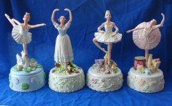 Ballerina Polyresin Figurine Music Box decorações em casa