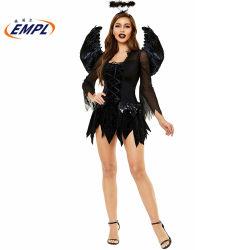 Хэллоуин Disfraz карнавал производителей одежды дьявола демона Angel Ghost страшно костюмы для взрослых женщин этап платье производительности