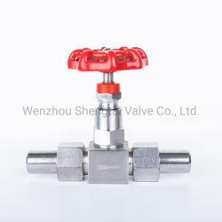 (J23W-160P-DN10) de filetage en acier inoxydable 316 haute pression et température élevée la vanne à pointeau