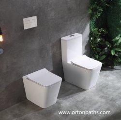 Retour à la Paroi en deux pièces certifiées CE/marque d'eau Salle de bains UF Doux Housse de siège de toilette de fermeture
