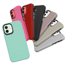 2 em 1 Non-Slip protecção integral à prova caso telefone celular para iPhone 12 PRO Max Samsung