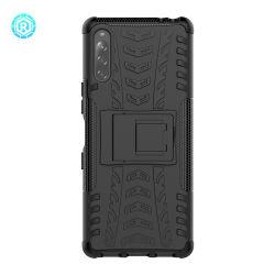 Los golpes de alta calidad Kickstank Contraportada teléfono caso para Sony Xperia L4