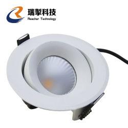 3W 5W 7W 9W 12W 15W 18W 24W 7 9 Watt LED montées en surface de plafond, IP44 Downlight encastré LED noir Downlight Led lumière, vers le bas