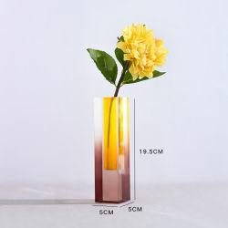 화려한 Acrylic Table Tube Vase의 꽃 배치 장비