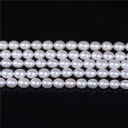 A AAA 8-9mm de água doce da forma de arroz Pearl solto para colar bracelete cordões