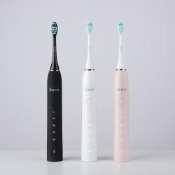 Escova de dentes eléctrica sónica recarregável sem fio ultra-sónico Brushhead substituível