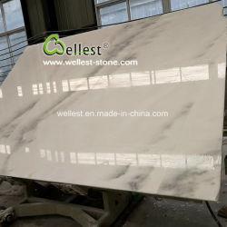 Натуральный камень белым мраморным хорошей ценой большого слоя для керамической плитки и верхние части