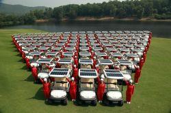 La energía solar 2 asientos de carros de golf eléctrico