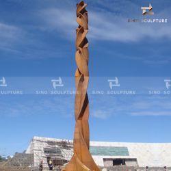 Grande scultura commemorativa urbana della colonna del acciaio al carbonio