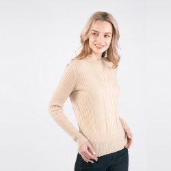 형식 숙녀 케이블 니트 디자인 100%년 캐시미어 천 스웨터