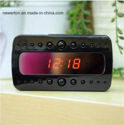 Mini macchina fotografica nascosta dell'orologio dello scrittorio di HD 1080P V26 della perla rf di visione notturna dell'allarme nero completo di Digitahi