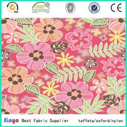 Multi-Color Flor Leaft material textil de poliéster y tejido de la impresión de diseño
