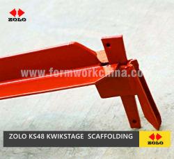 Zolo Ks48のオーストラリアのタイプKwikstage Kwik形式のトランサムの四方リングロックの支注タワーの足場