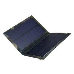 5W de vouwbare Batterij die van de Telefoon van het Zonnepaneel gelijkstroom USB Draagbare Mobiele de Zak van de Lader vouwen