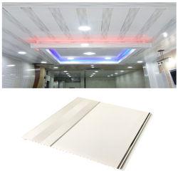 Mur intérieur matériaux décoratifs en PVC étanche faux plafond Designs pour la chambre Salle de bains