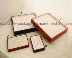 Comercio al por mayor popular de la bandeja de madera Mostrar bandeja de joyería artesanal