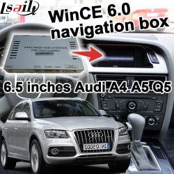 Zone de navigation GPS de l'interface vidéo pour Audi A4 A5 Q5 09-16 Modèle Win CE 6.0 6,5 pouces