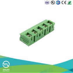 Hauteur de 7,5 mm 1000V Pole électrique sur le fil de laiton protéger Euro Bloc de jonction Connecteur PCB