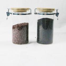 蜂蜜の穀物のナットのミルクのための台所記事の食糧記憶のガラスビンの瓶