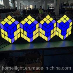 LED 3Dの段階KTV党DJのための魔法の立方体の壁の屋内壁