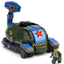 14881014-Building blockt Spielwaren-sowjetische niedrige Auto Playmobil Vorgangs-Abbildung Ziegelstein-pädagogische Spielwaren