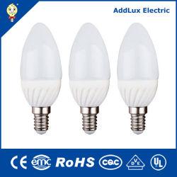 As exportações de fábrica Distribuidor melhor marcação UL SASO E14 E27 3W a lâmpada economizadora de energia da lâmpada da luz de velas LED fabricado na China para iluminação interior