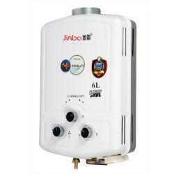 6L Faible pression d'eau Type de combustion chauffe-eau à gaz instantanée