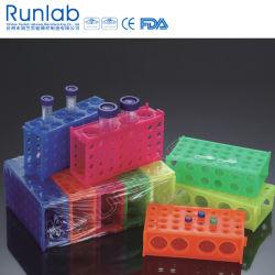 Les portoirs pour tubes à 4 voies pour les micro-tubes et de 50ml et de tubes 15 ml