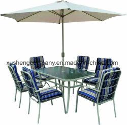 Im Freien Nahrungsmittel-und Getränk-Speicher mit Sonnenschutz-Regenschirm-Schreibtisch-und Stuhl-Möbel-Sets