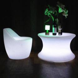 Mobilier en plastique moderne voyant de changement de couleur RVB Table à manger ensemble pour la vente