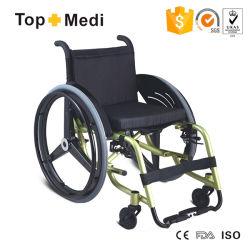 Sillón de ruedas manual de gama alta del deporte de la rueda posterior de la fibra del carbón