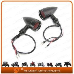 Moto Accessoires 2X Noir Moto universel Bullet 20 LED Rouge de feu arrière clignotant USA