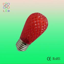 El LED rojo S14 de 0,5 W LED de luz de Navidad S14 en PC facetas portada