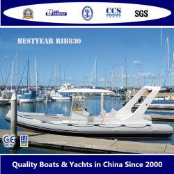 Novo Barco de costela de 830um barco inflável rígida de PVC ou tubo de Material Hypalon barco para a pesca ou de desporto