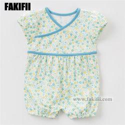 Fakifii 상표 제조 아기는 아이들 의복 신생 면 식물상 장난꾸러기 여름 의류를 입는다
