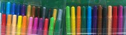 Los nuevos 24 colores Non-Toxic lápices lápices de cera giratoria de plástico