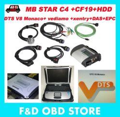 4GB de Ster C4 BR van de RAM CF19+MB sluit +HDD het Systeem van Xentry Dts Monaco van de Diagnose van de Ster van Mercedes Compacte aan Multiplextelegraaf 4 voor Benz diagnostiseert