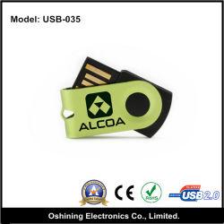 Giro de Mini USB Flash Drive con logotipo personalizado (USB-035)