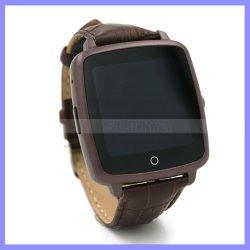 1,54 дюйма камера Bluetooth SIM-Smart смотреть сотовый телефон с мобильного телефона Кожаный кистевой