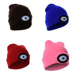 6SMD Bonnet tricoté en hiver Cap chapeau chaud rechargeables USB lanternes de camping de feux de randonnée