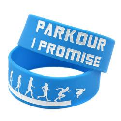 Förderung-Geschenk-Silikon-Armband Customed Sport geprägter Debossed /Printing SilikonWristband